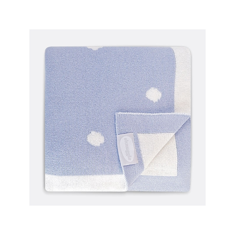Shnuggle Luxury Knitted Blanket-Blue