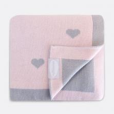 Shnuggle Luxury Knitted Blanket-Heart