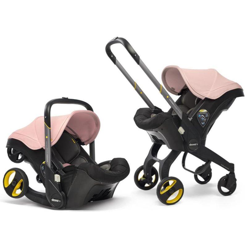 Doona Infant Car Seat Stroller-Blush Pink + FREE Doona Rain Cover Worth 29.99!