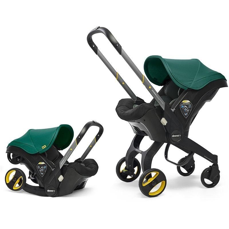 Doona Infant Car Seat Stroller-Racing Green + FREE Doona Rain Cover Worth 29.99!