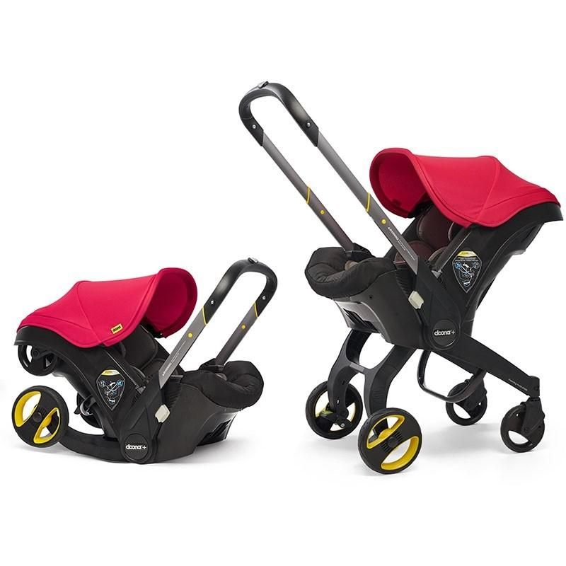 Doona Infant Car Seat Stroller-Flame Red + FREE Doona Rain Cover Worth 29.99!