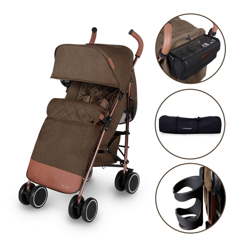 Ickle Bubba Discovery PRIME Rose Gold Chassis Pushchair-Khaki (New 2018)