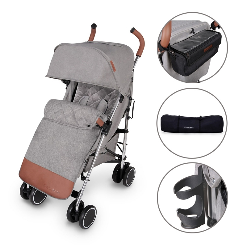 Ickle Bubba Discovery PRIME Silver Chassis Pushchair-Grey (New 2018)