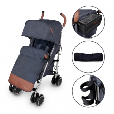 Ickle Bubba Discovery PRIME Silver Chassis Pushchair-Denim Blue