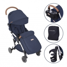 Ickle Bubba Globe Prime Silver Chassis Pushchair-Denim Blue