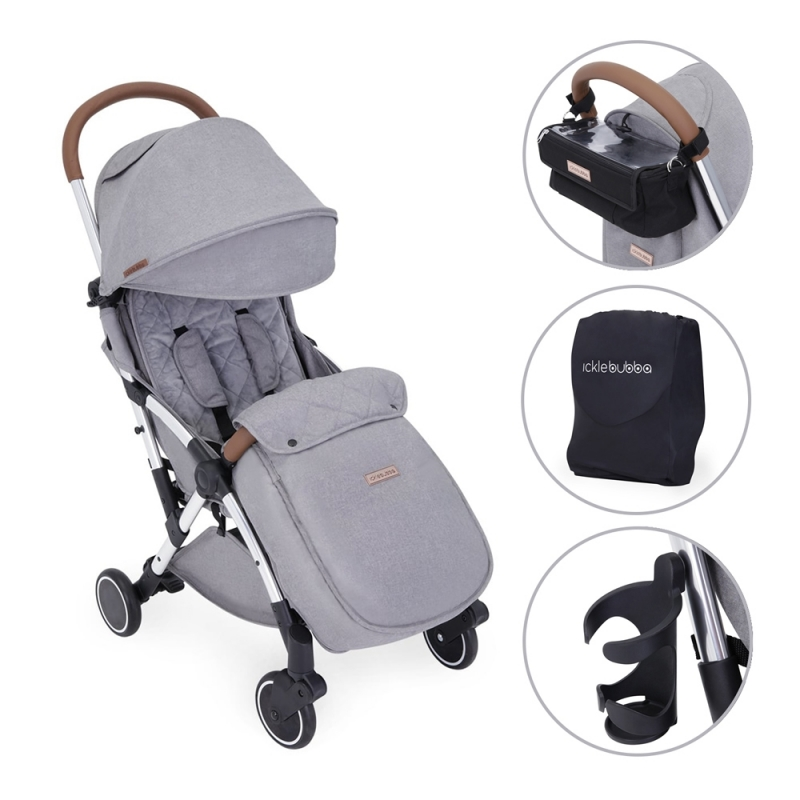 Ickle Bubba Globe Prime Silver Chassis Pushchair-Grey