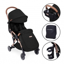 Ickle Bubba Globe Prime Rose Gold Chassis Pushchair-Black