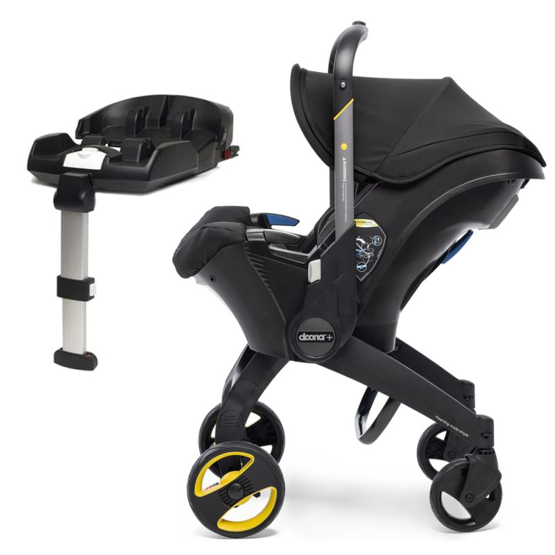 Doona Infant Car Seat Stroller With Isofix Base Nitro Black New 2019