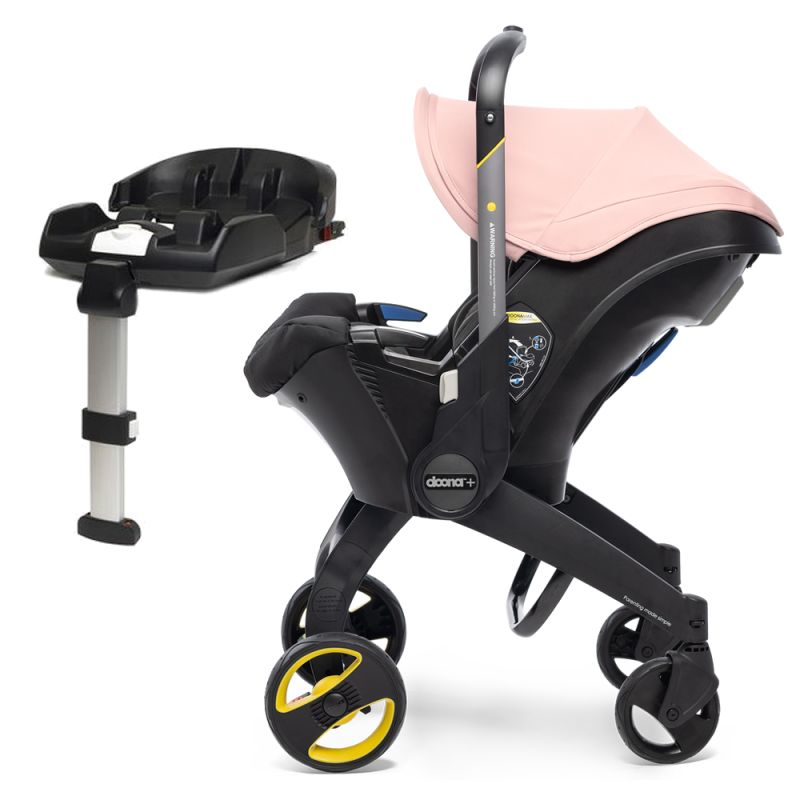 Doona Infant Car Seat Stroller With ISOFIX Base-Blush Pink