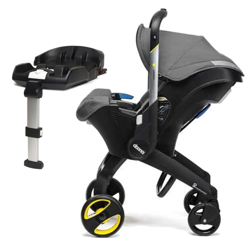 Doona Infant Car Seat Stroller With ISOFIX Base-Storm (New 2019)