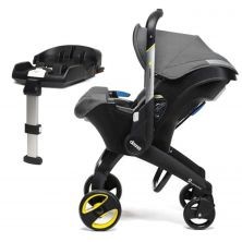 Doona Infant Car Seat Stroller With ISOFIX Base-Storm Grey + FREE Snap-on Storage Worth £29.99!