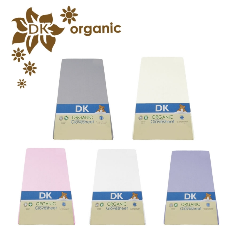 DK Glove Organic Fitted Cotton Sheet for Pillow Case Junior 73x58-(5 Colours)