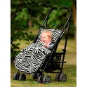 Kiddies Kingdom Deluxe Universal Pushchair Footmuff-Zebra Print