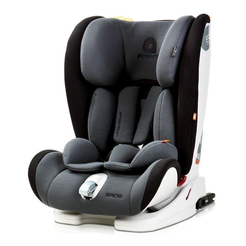 Apramo Eros Group 1/2/3 Child Car Seat-Midnight Black