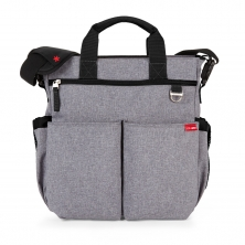 Skip Hop Duo Signature Changing Bag-Heather Grey