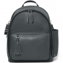 Skip Hop Greenwich Simply Chic Changing Backpack-Smoke