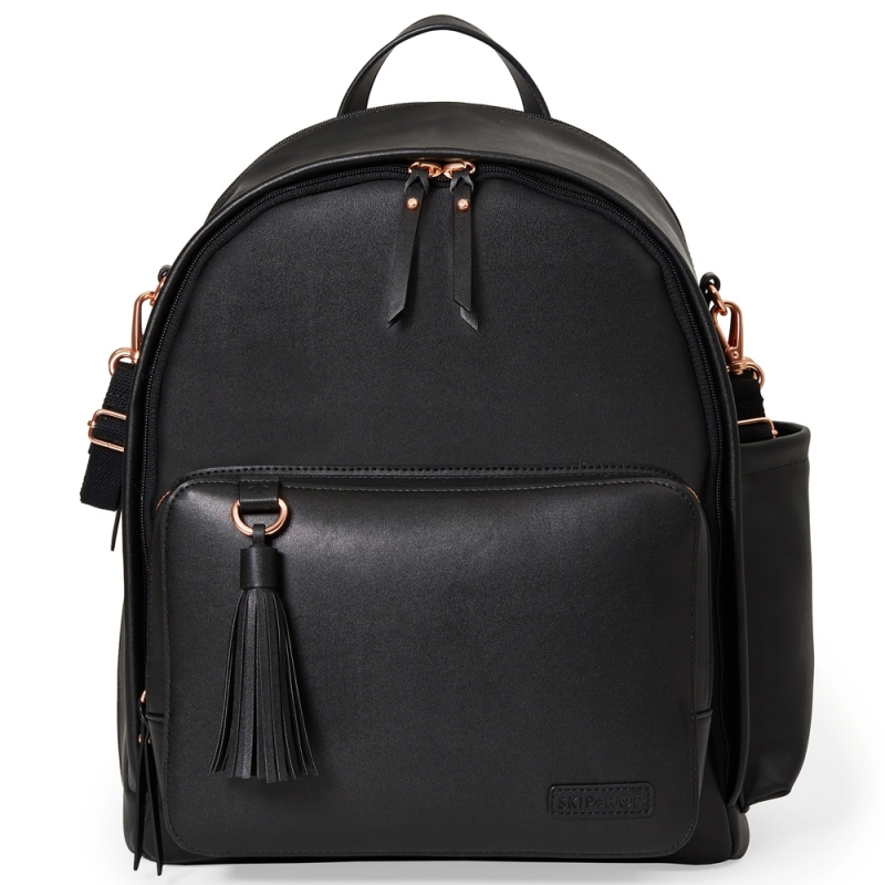 Skip Hop Greenwich Simply Chic Changing Backpack-Black