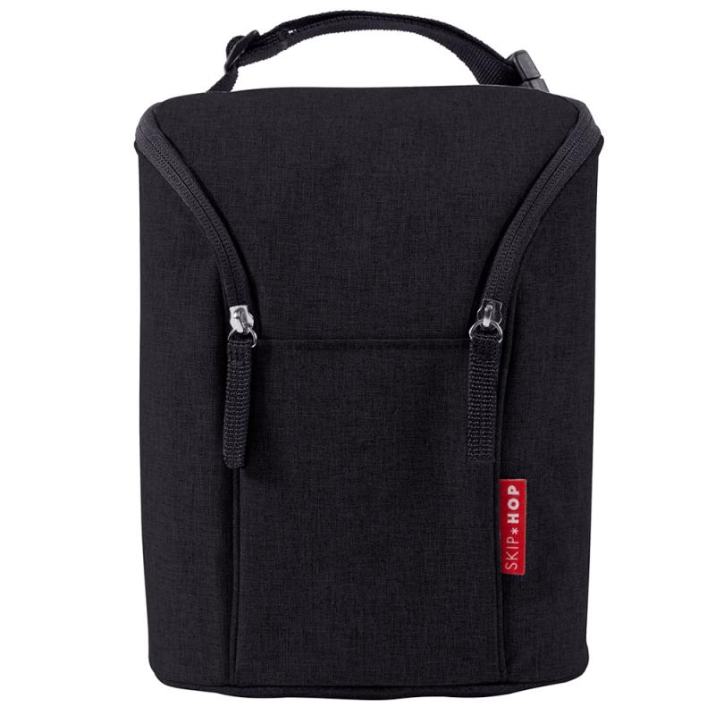 Skip Hop Grab & Go Double Bottle Bag-Black