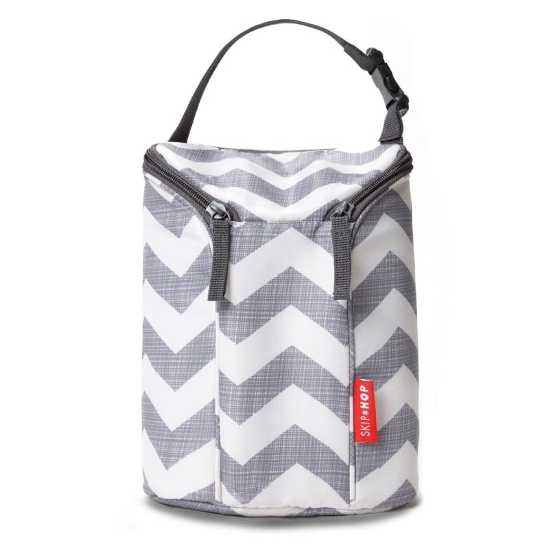 Skip Hop Grab & Go Double Bottle Bag-Chevron