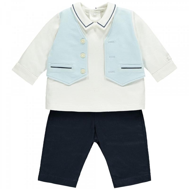 Emile et Rose Marshall Baby Boys Mock Waistcoat Outfit