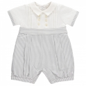 Emile et Rose Murray Striped Baby Boys Shortie-Grey