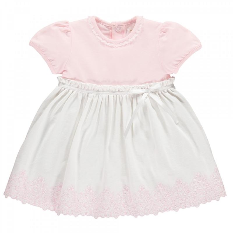 Emile et Rose Marcela Girls and White Summer Dress-Pink