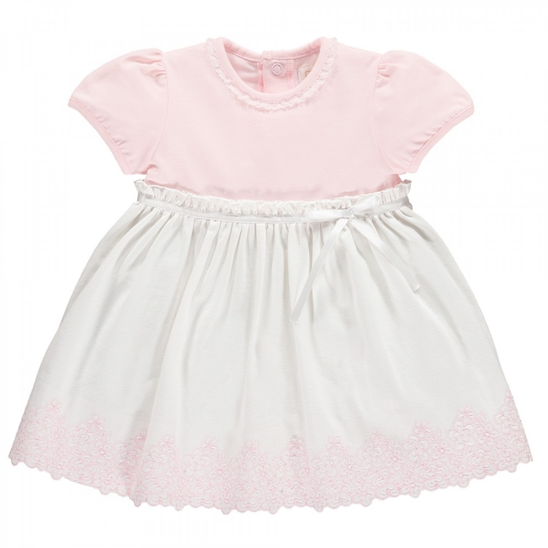 Emile et Rose Marcela Girls and White Summer Dress-Pink