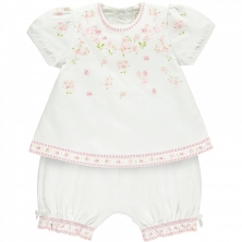 Emile et Rose Meg Girls Floral Print Top and Shorts Set