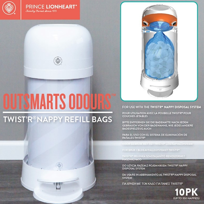Prince Lionheart Twist'r Refill Bags 10pk