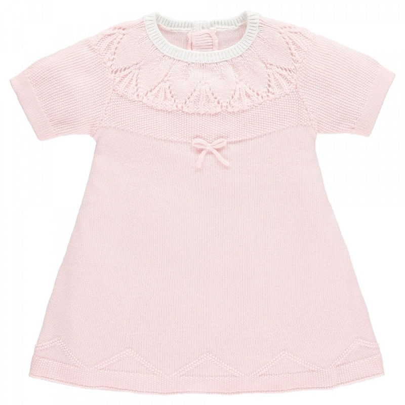 Emile et Rose Mae Baby Girls Knit Dress-Pink