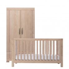 Silver Cross Camberwell Cot Bed and Wardrobe-Oak (New 2018)