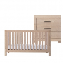 Silver Cross Camberwell Cot Bed and Dresser-Oak (New 2018)