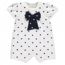 Emile et Rose Marilyn White Baby Girls Spot Romper