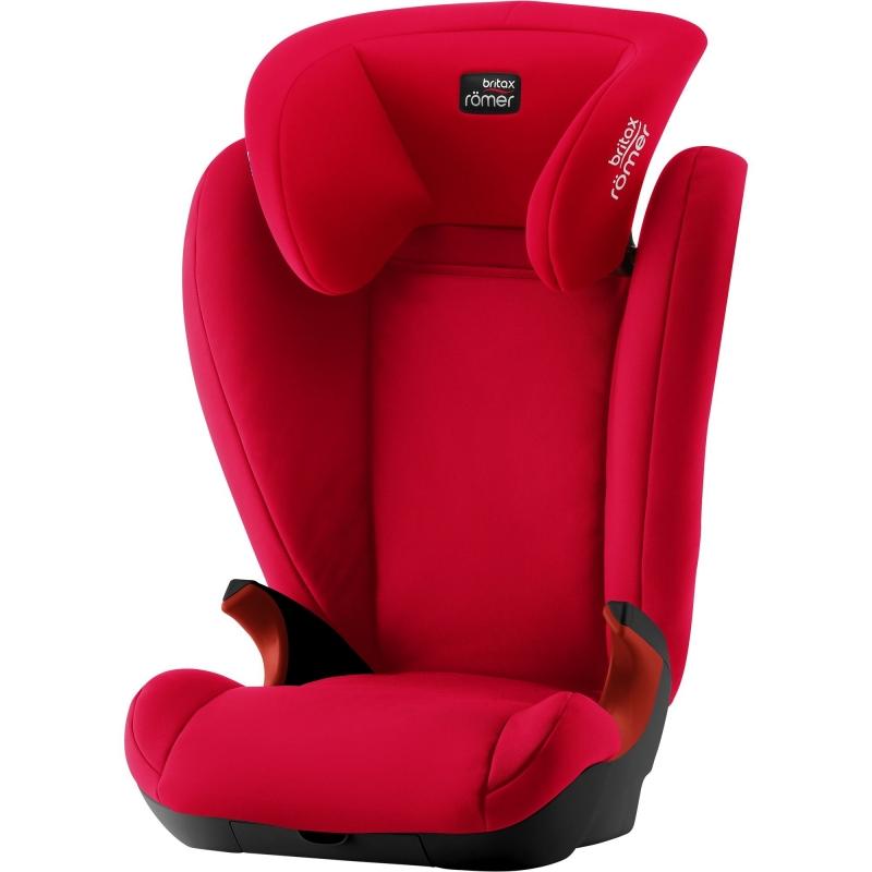 Britax Kid II Black Series Group 2/3 Car Seat-Fire Red (New)