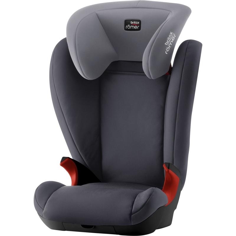 Britax Kid II Black Series Group 2/3 Car Seat-Storm Grey (New)
