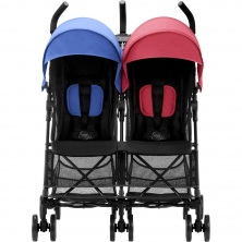 Britax Holiday Double Stroller-Red/Blue (New)