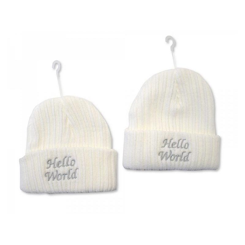 Sheldon Baby Girls Knitted Hat-Hello World