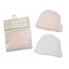 Sheldon Premature Baby Girls Hats 2 Packs
