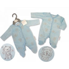 Sheldon Premature Baby Boys Velour All in One-Jungle