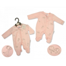Sheldon Premature Baby Girls Velour All in One-Animals