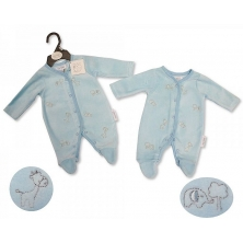 Sheldon Premature Baby Boys Velour All in One-Animals