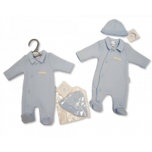 Sheldon Premature Baby Boys All in One with Hat-Little and Handsome