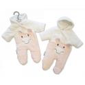 Sheldon Tiny Baby Padded Snowsuit Giraffe-Pink