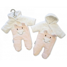 Sheldon Tiny Baby Padded Snowsuit Giraffe-Pink
