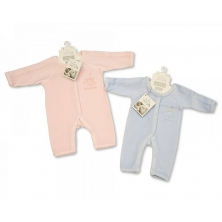 Sheldon Incubator Velour Sleepsuit-Tiny Prince/Princess