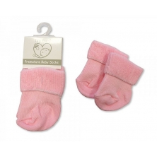 Sheldon Premature Baby Roll Over Socks-Pink