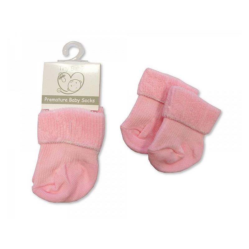 Sheldon Premature Baby Roll Over Socks Pink