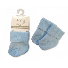 Sheldon Premature Baby Roll Over Socks-Sky