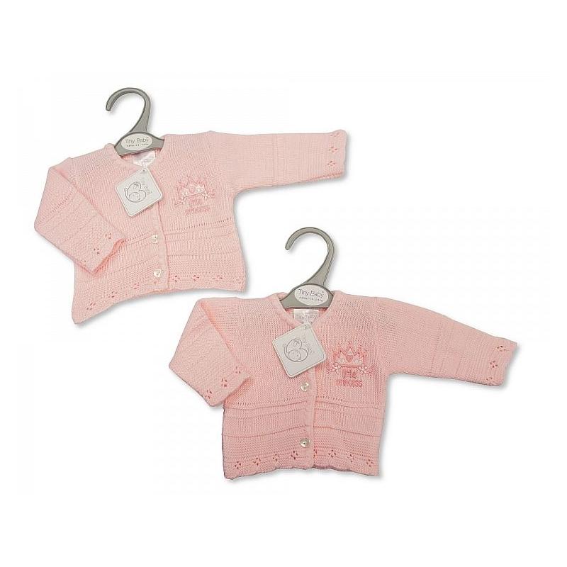 Sheldon Baby Girls Premature Knitted Cardigan Little Princess
