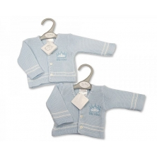 Sheldon Baby Boys Premature Knitted Cardigan-Little Prince